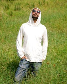Hoodie for Men in Organic Cotton Hemp Jersey Eco Friendly