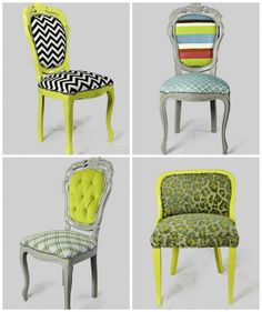 Top left chair, just maybe in a different shade of green, or even tangerine