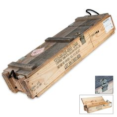 105mm Wooden Ammo Box | BUDK.com - Knives & Swords At The Lowest Prices!