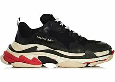 online retailer ca4a7 fafbb Buy and sell authentic Balenciaga Triple S Black White Red shoes and  thousands of other Balenciaga sneakers with price data and release dates.
