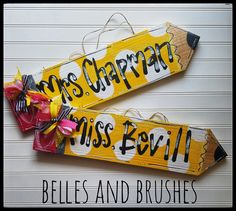 Pencil sign with personalization, what a great #teacher gift! Teacher appreaciation, end of year or just because!