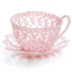 Lace tea-cup by Miss Rose Sister Violet