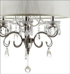 Amazon.com: Silver Mist Hanging Crystal Drum Shade Chandelier: Home Improvement