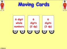 Integers, Place Values, Cards, Maps, Playing Cards
