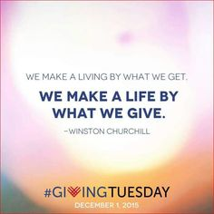 Save the Date - December 1 is Giving Tuesday! Watch this space for the link early that day! #galtx #givingtuesday