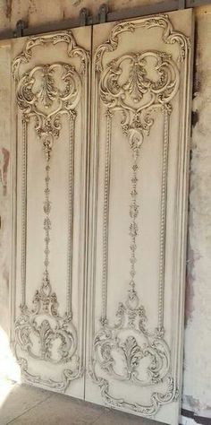 LuxTouch Vintage Furniture & Decor ~ With Louise May Heath... Victorian wall panel sliding doors...
