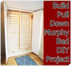 "Build Pull Down Murphy Bed DIY Project Homesteading - The Homestead Survival .Com ""Please Share This Pin"""