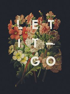 Let it go…  Poster Lettering by Ricardo Garcia