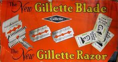 Vintage Advertising, Photography And Gillette Razor, Vintage Advertising Posters, Vintage Advertisements, Vintage Posters, Gillette Advertising, Vintage Labels, Vintage Ads, Classic Shaving, Barbers
