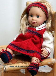Little Chou Chou in her new red dress Design: Målfrid Gausel