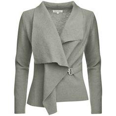 GROA boiled wool jacket - light grey