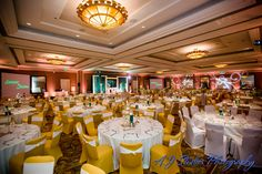 The Waterfront Beach Resort, a Hilton Hotel | AJ Studios Photography | Grand Ballroom | Weddings | Wedding Decor | Wedding Venue | Reception Venue | Huntington Beach, CA | Surf City, USA | Green and Gold Wedding | Sweethearts |  Oceanfront Weddings | Waterfront Weddings