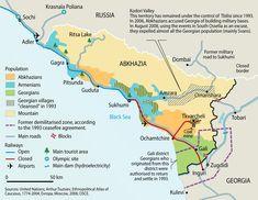 GEORGIA & SOUTH CAUCASUS: MAPS: Le Monde Diplomatique published maps from the Caucasus. By Phillipe Rekacewicz (mondediplo.com)