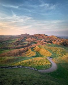 The Malvern Hills, Worcestershire, England, the hills cover three counties in England, Worcestershire, Gloucestershire and Herefordshire
