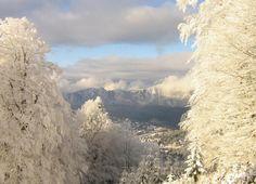Beautiful winter day in Romania