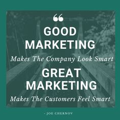 Your customer needs to feel that he's making a smart choice by buying your product. Sunday Motivation, Sunday Funday, Business Quotes, Thoughts, Marketing, Feelings, How To Make, Ideas, Tanks