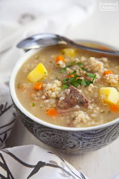 B Food, Slow Food, Polish Recipes, Polish Food, Soups And Stews, Cheeseburger Chowder, Food And Drink, Cooking, Kitchen