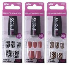 Print NEW $1 imPRESS Press-On Nails Coupon! When the right size is used and filed down, they are impressive!!!!! They don't budge at all!