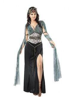 Buy Adult Medusa Costume, available for Next Day Delivery. Transform into a Mythical Monster in our Adult Medusa Costume! Outfit includes: Dress with Veils . Medusa Halloween, Cleopatra Halloween, Halloween Fancy Dress, Spooky Halloween, Adult Costumes, Costumes For Women, Halloween Costumes, Belly Dancer Halloween Costume, Halloween Ideas