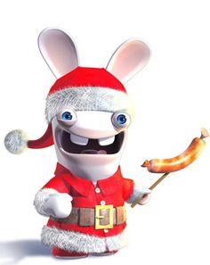 Rabbids de Papai Noel.
