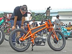 Cool Motorcycles, Bmx Bikes, Cycling Bikes, Custom Moped, Custom Bikes, Powered Bicycle, Diy Go Kart, Moto Car, Bicycles