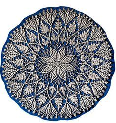 Cluster Stitch Doily crochet pattern from Doilies, originally published by American Thread Co, Star Book No. 124, in 1955.