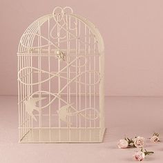 Gabbia con uccellini innamorati matrimonio