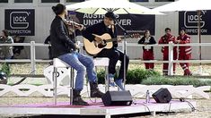 David Garrett and Marcus Wolf in concert 2012 in Treffen/Austria. A beautiful quaint performance ♥