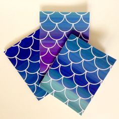 Mermaid notebook party favor!  Available in a dozen colors.  Purchased in sets of 3 starting at $5