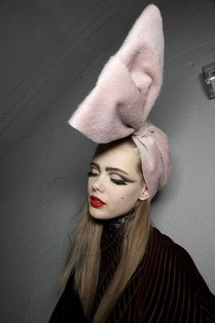 Big bow, bold lips, bold eyes only at Dior // via @glitter