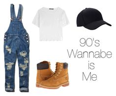 """""""90s hip hop fashion"""" by marleyvincent-ufm on Polyvore featuring rag & bone, Abercrombie & Fitch and Timberland"""