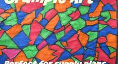 Crumple Art - a Quick and Easy Art Lesson | You Pinspire Me