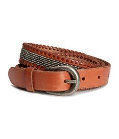 H&M Beaded Leather Belt $34.95