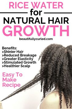 Learn the benefits of using rice water on your hair to improve hair and scalp health as well as stimulate faster hair growth. Learn the benefits of using rice water on your hair to improve hair and scalp health as well as stimulate faster hair growth. Natural Hair Tips, Natural Hair Growth, Natural Hair Styles, Natural Beauty, Best Hair Loss Treatment, Hair Growth Treatment, Healthy Hair Growth, Hair Growth Tips, Grow Long Hair