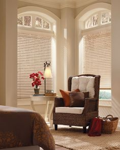Rooms I LOVE! Gorgeous Windows and a Great Spot to Read! Hunter Douglas American Heritage Window Treatments #Hunter_Douglas #American_Heritage #Window_Treatments