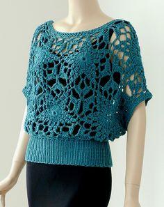 *That's crochet slip stitch ribbing* Ravelry: Titan Top pattern from Doris Chan's newest book.