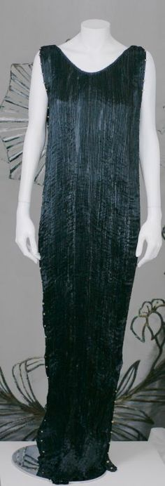 Mariano Fortuny Black  Delphos Gown   From a collection of rare vintage evening dresses at http://www.1stdibs.com/fashion/clothing/evening-dresses/