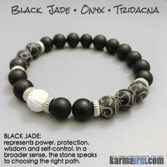 Yoga Bracelet Energy Healing | Men's Womens | beaded yoga karma mala charm.