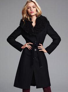Michael by Michael Kors Faux-Fur Collar Coat #VictoriasSecret http://www.victoriassecret.com/clothing/sexy-steals-outerwear/faux-fur-collar-coat-michael-by-michael-kors?ProductID=64971=OLS?cm_mmc=pinterest-_-product-_-x-_-x