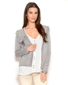 """Size: Aryn K. Knit Cotton Cardigan Size L original brand name Aryn K. item Apparel product type Cardigan Care Instructions dry clean Condition brand new Gender women Material 95% acrylic, 5% cotton Sleeves long sleeves size L"""
