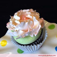 Peony Cupcake by Pink Cake Box Baking Cupcakes, Yummy Cupcakes, Cupcake Cakes, Cup Cakes, Pastries Images, Pink Cake Box, Beautiful Cupcakes, Cake Truffles, Pretty Cakes