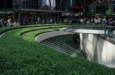 Sony Centre, Berlin; by Peter Walker.    Love the form, lines, colour and function harmonized in just one design.