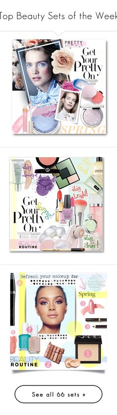 """""""Top Beauty Sets of the Week"""" by polyvore ❤ liked on Polyvore featuring beauty, N°21, Guerlain, Stila, Lipstick Queen, 100% Pure, Cara, prettypastels, SpringBeauty2016 and Givenchy"""