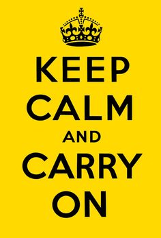 Keep Calm and Carry On (Yellow and Black)