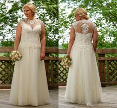 Short Wedding Gowns Vintage Lace High Collar Wedding Dresses Plus Size 2016 New Arrival Sequin Crystal Beaded Sheer Neck Cap Sleeve Hollow Back Ruched Bridal Simple Lace Wedding Dresses From Molly_bridal, $124.61  Dhgate.Com