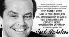 EL ABORTO Y JACK NICHOLSON