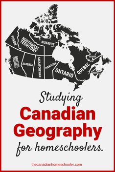 Studying Canadian Geography for homeschoolers - Canada Map Geography Activities, Geography Lessons, Teaching Geography, Teaching History, History Education, Geography Of Canada, Geography For Kids, Maps For Kids, Social Studies Worksheets