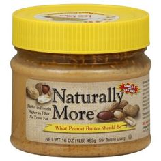 Naturally More, Peanut Butter with Omega-3 & Flax Seed, 16oz Jar (Pack of 3): Amazon.com: Grocery & Gourmet Food