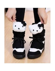 Anyfash Free Shipping Kitty Lovely Shoes-Black - ANYFASH | The Latest Fashion Online Store #ShopSimple Canvas Sneakers, Sneakers Nike, Alternative Outfits, Online Fashion Stores, Black Shoes, Latest Fashion, Hello Kitty, Kawaii Shop, Boots