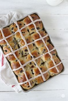 Hot Cross Buns- they might be a bit labor intensive, but the results are completely worth it!  These are the best hot cross buns you'll ever try.
